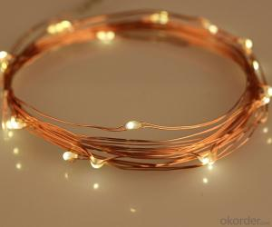 Colorful Copper Wire Led Light String for Outdoor Indoor Stage Wedding Holiday Party Decoration