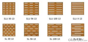 Bamboo / Wood Acoustic Panel for Wall / Ceiling – Sound Absorbing, Eco Slotted Interior Panel