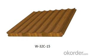 Bamboo / Wood Acoustic Panel for Wall / Ceiling – Sound Absorbing, Waved Interior Decoration Panel
