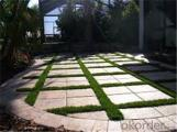Flat shape four color outdoor Landscaping artificial turf grass