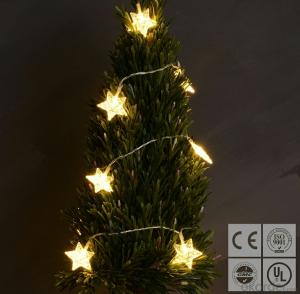 Warm White Star Led String Lights for Outdoor Indoor Christmas Party Garden Decoration