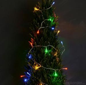 Colorful Copper Wire Led Light Bulbs String for Cafe Restaurant Garden Decoration