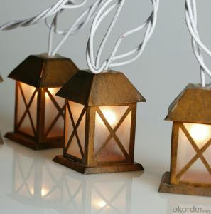 Metal House Light String Coconut Palm Light String for Outdoor Indoor Christmas Holiday Decoration