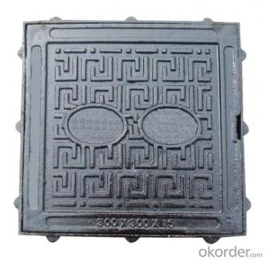 Ductile Iron Manhole Cover EN124 Standard in China