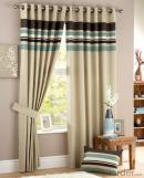 China supplier manual stripe curtain with light control