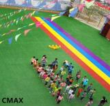 A Simulated Artificial Lawn Laid In Kindergarten