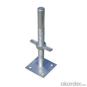 Adjustable scaffolding pipe screw jack base