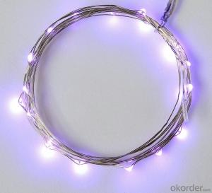 Purpule Copper Wire LED Light Bulb String for Outdoor Indoor Garden Cafe Restaurant Decoration