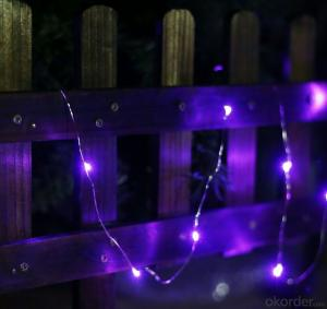 Purple Copper Wire Led Light Bulb String for Outdoor and Indoor Holiday Party Stage Decoration