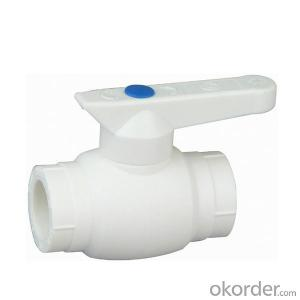 PPR Ball Valve Fittings of Industrial Application