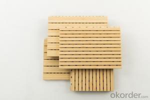 Bamboo / Wood Acoustic Panel for Wall / Ceiling – Sound Absorbing, Natural Grooved Interior Panel