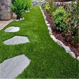 Artificial grass for family  garden with PE