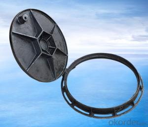 Ductile Iron Manhole Cover with Light Duty Made by Professional Manufacturer