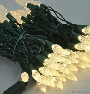New White C6 Led Light String for Outdoor Indoor Wedding House Garden Decoration
