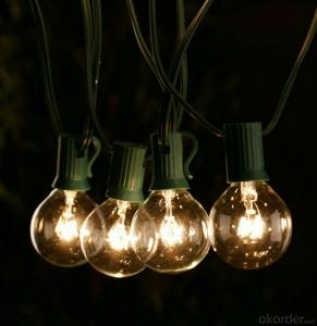 Global Incandescent LED Light Bulb String for Cafe Restaurant Garden Decoration