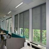 Roller Blinds with Embroidered Sheer for Office and Home