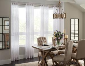 Beautiful design window voile fabric curtain for room