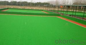 The multi-purpose artificial grass is used in the playground.