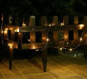 Orange Copper Wire LED Light Bulb string for Stage Garden Cafe Decoration
