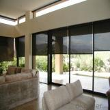 Vertical outdoor motorized roller blind in many styles