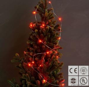 Red Copper Wire LED Light Bulb String for Wedding Valentine's Day Decoration