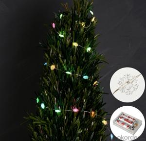 Colorful Copper Wire LDD Light Bulb String for Party Square Holiday Decoration