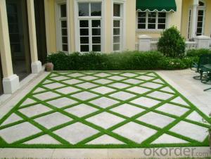 Natural looking landscaping artificial grass for home garden