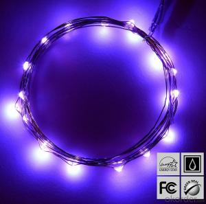 Outdoor Indoor Clear Purple Copper Wire String Lights for Wedding Christmas Decoration