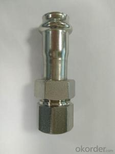 Stainless Steel Sanitary Fitting Female Union Adaptor 15.88 V Profile 304