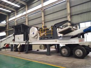 Tyre type mobile crushing station for railway for mining and ore industry