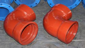 China Ductile Iron Pipe Fittings 45 90degree