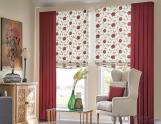 China Fabric Double Roman Roller Shades Design