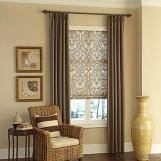 Folding Vertical Feather And Fabric Blinds