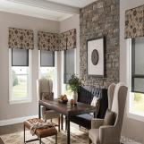 European Style Fabric Dual Day And Night Roller Blinds