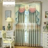 Chenille hollow water soluble embroidery curtain fabric