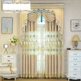 Hollow water soluble embroidery curtain fabric