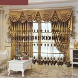 Home curtain blackout curtain chenille hollow water-soluble embroidery  curtain