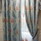 Home curtain hotel curtain blackout curtain chenille embossed jacquard curtain home textile fabric