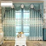 Home curtain hotel curtain  Chenill cashmere hollow water-soluble embroidery curtin fabric
