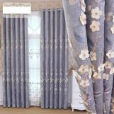 Home curtain hotel curtain  Chenille embossed three-dimensional embroidery blackout curtain