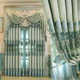 Home curtain hotel curtain blackout curtain chenille embroidered curtains fabric home textile