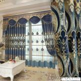 Home curtain hotel curtain blackout curtain hollow embroidered  curtain fabric