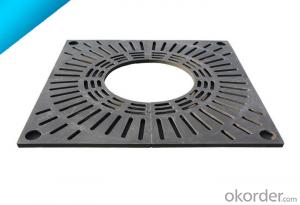 Cast OEM ductile iron manhole covers with superior quality for mining