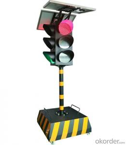 LED Solar  portable traffic light,movable Road safety LED traffic signal light