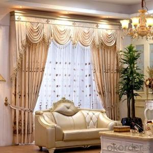 Window Curtains with European Style 100% Polyester Window Printed Blackout