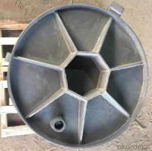 Casted OEM ductile iron manhole covers with high quality for industries with frames
