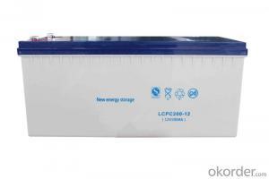 12v 200ah AGM battery deep cycle gel battery for solar power system