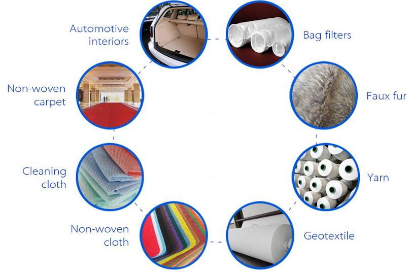 15D *64 Hollow Conjugated Non Siliconizied  Polyester Fiber