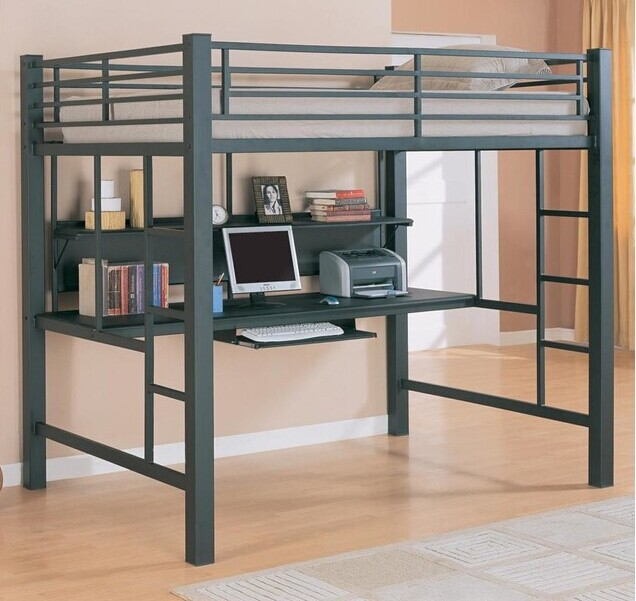 Multifunction Bunk Bed Student, Student Loft Bed With Desk