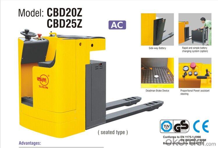 Buy CBD 20Z/25Z ELECTRIC PALLET TRUCK Price,Size,Weight